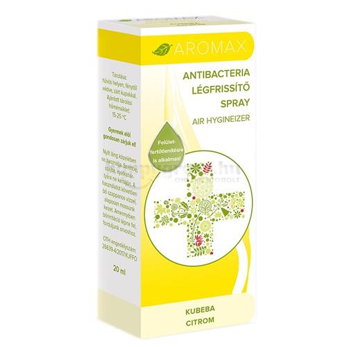 Aromax Antibacteria Légfrissítő Spray, Kubeba-Citrom, 20 ml