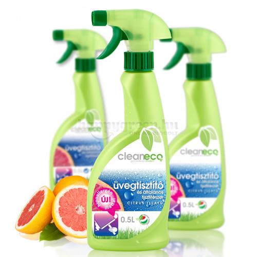 Cleaneco Üvegtisztító és Általános Tisztítószer, Pumpás, 500 ml
