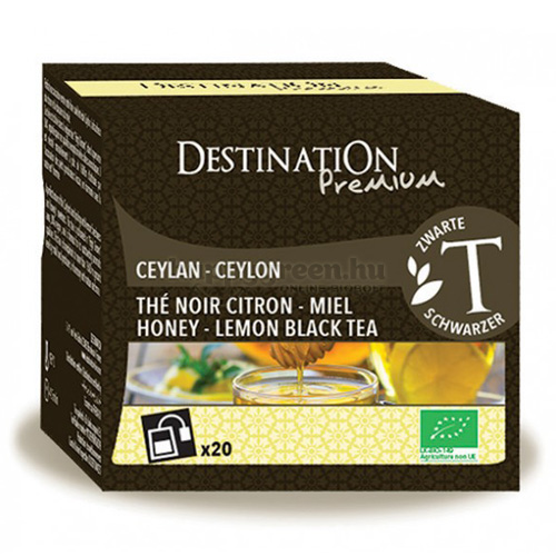 DES 20 Destination Mézes-Citromos Fekete Tea