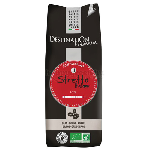 Destination Stretto Italiano Bio Szemes Kávé, 250 g