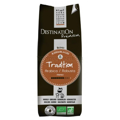 Destination Tradition Arabica Robusta Bio Őrölt Filteres Kávé, 250 g