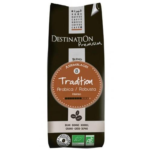 Destination Tradition Arabica Robusta Bio Szemes Kávé, 250 g
