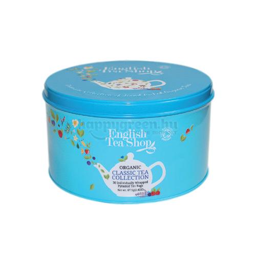ETS 30 English Tea Shop Teaválogatás Fém Díszdobozban, Kék