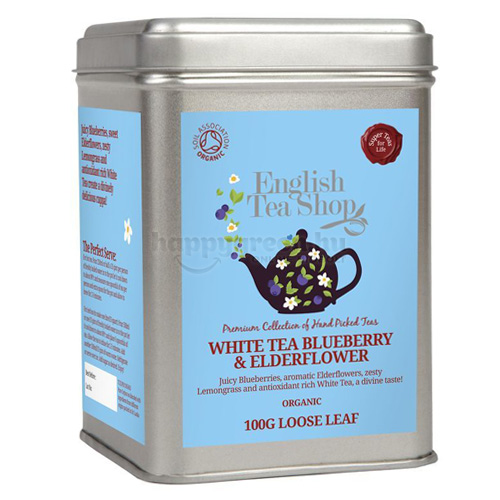 ETS 100 g English Tea Shop Szálas Áfonyás-Bodzás Fehér Tea