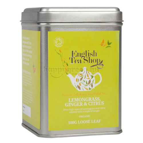 ETS 100 g English Tea Shop Szálas Citromfű Tea Gyömbérrel és Citrusokkal