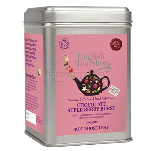 ETS 100 g English Tea Shop Szálas Csokoládés-Szuperbogyós Ízbomba Tea