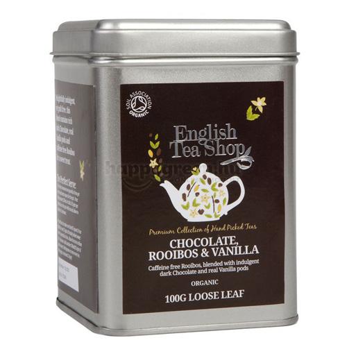 ETS 100 g English Tea Shop Szálas Csokoládés Rooibos és Vanília Tea