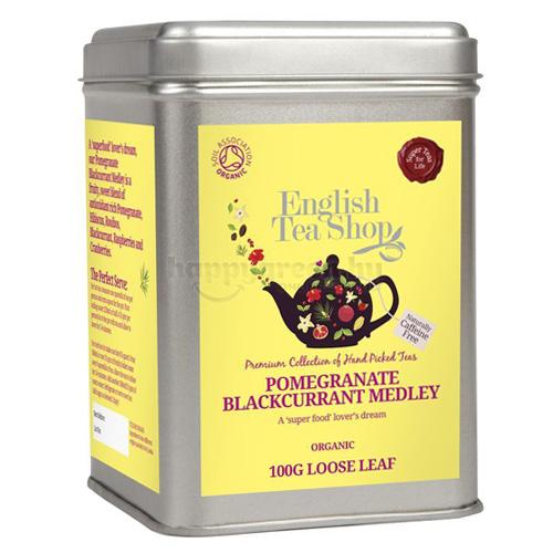 ETS 100 g English Tea Shop Szálas Gránátalma-Feketeribizli Mix Tea