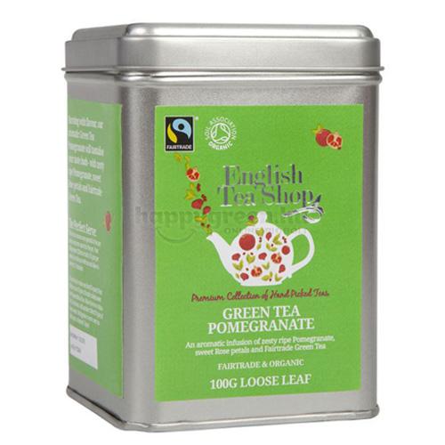 ETS 100 g English Tea Shop Szálas Gránátalmás Zöld Tea