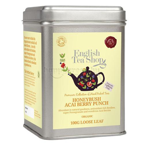 ETS 100 g English Tea Shop Szálas Mézbokor Virág és Acai Bogyó Puncs Tea