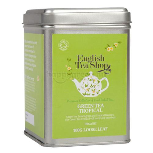 ETS 100 g English Tea Shop Szálas Zöld Tea Trópusi Gyümölcsökkel
