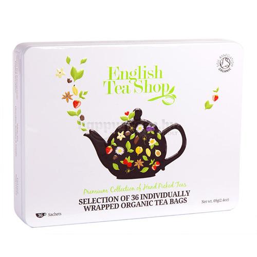 ETS 36 English Tea Shop Ajándék Teaválogatás Fémdobozban