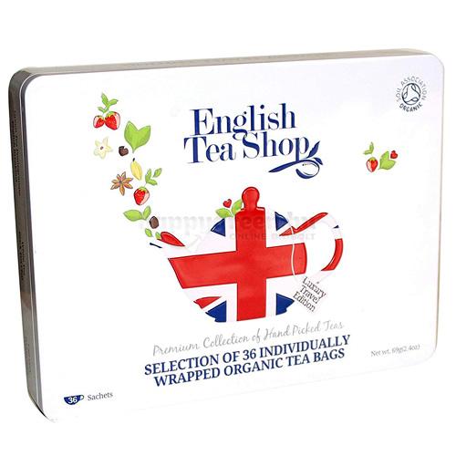 ETS 36 English Tea Shop Union Jack Ajándék Teaválogatás Fémdobozban
