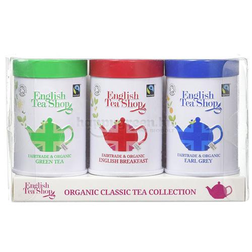 ETS 75 g English Tea Shop Szálas Union Jack Teaválogatás Fémdobozban
