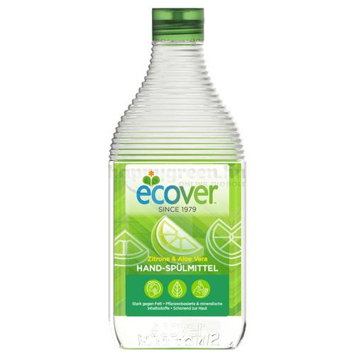 Ecover Kézi Mosogatószer, Citrom és Aloe, 450 ml