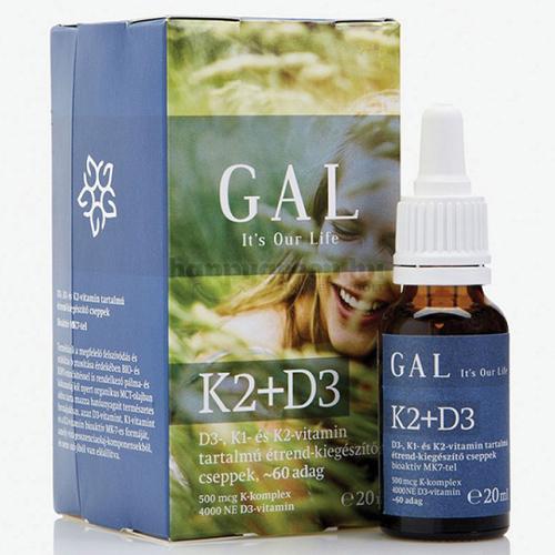 GAL K2-D3 Vitamin, 60 adag