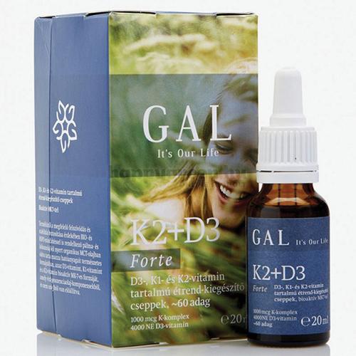 GAL K2-D3 Vitamin Forte, 60 adag