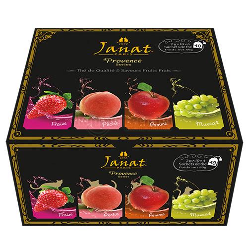 Janat Provance Gyümölcsös Fekete Teaválogatás, 40 db