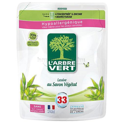 L'Arbre Vert Folyékony Mosószer-utántöltő Növényi Szappankivonattal, 1500 ml