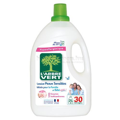 L'Arbre Vert Folyékony Mosószer Érzékeny Bőrre a Babának és a Családnak, 2000 ml