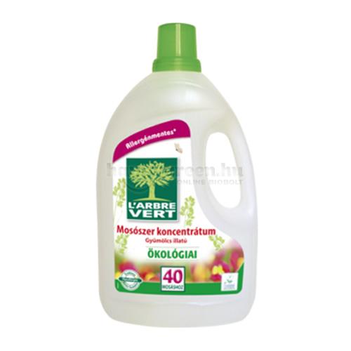 L'Arbre Vert Folyékony Mosószer Növényi Szappankivonattal, Gyümölcsillatú, 3000 ml