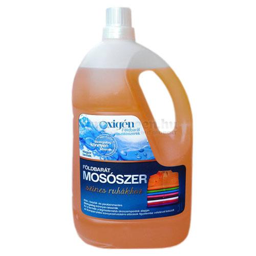 Oxigén Földbarát Mosószer Színes Ruhákhoz, 3000 ml