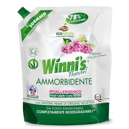Winni's Öblítő-koncentrátum Eco-Pack Utántöltő Vaníliavirág és Fehér Pézsma Illattal, 1470 ml