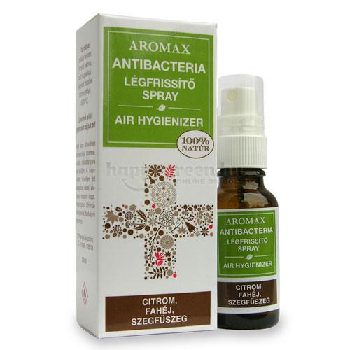 Aromax Antibacteria Légfrissítő Spray, Citrom-Fahéj-Szegfűszeg, 20 ml