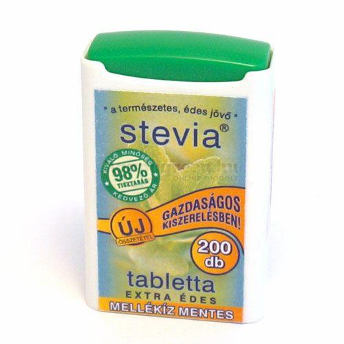 Bio-Herb Stevia Tabletta, Extra Édes, 200 db