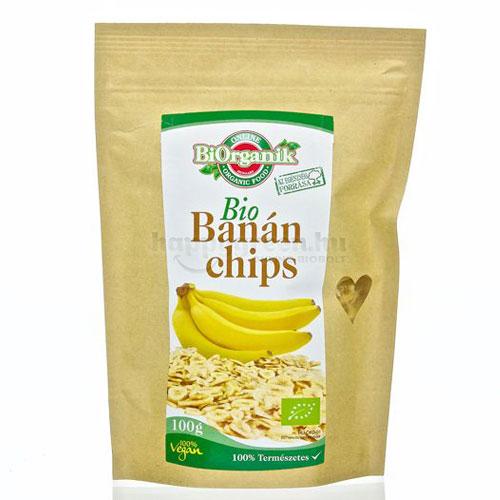 BiOrganik Banán Chips, 100 g