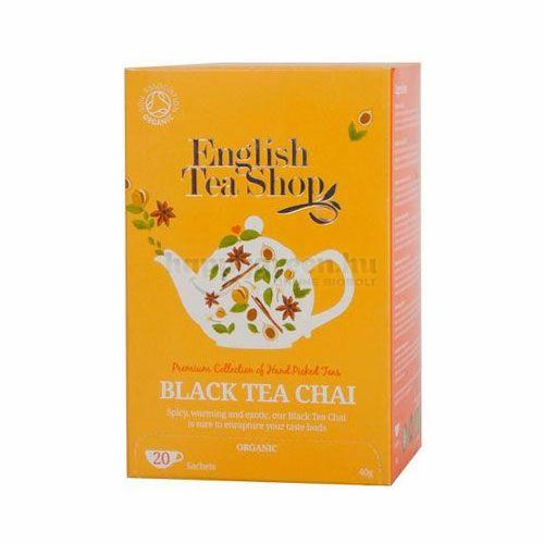 English Tea Shop Chai Fekete Tea, 20 db