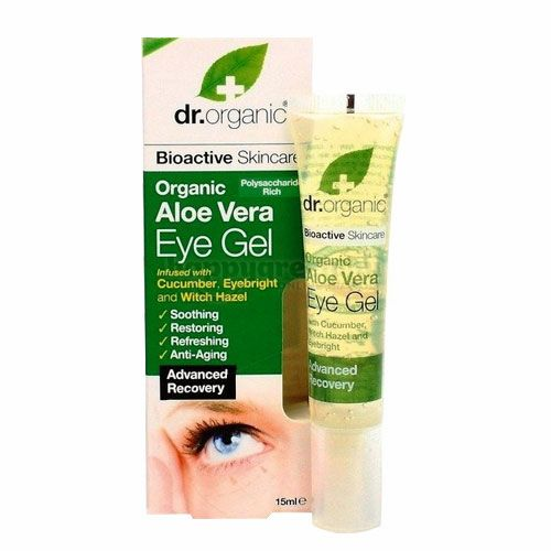 Dr.Organic Szemkörnyék-ápoló, Aloe Vera, 15 ml