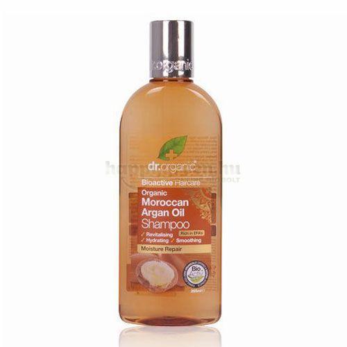 Dr.Organic Sampon, Argánolajos, 265 ml
