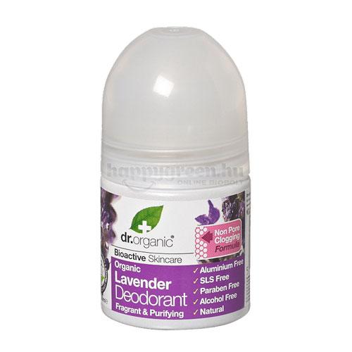 Dr.Organic Golyós Deo, Levendula, 50 ml