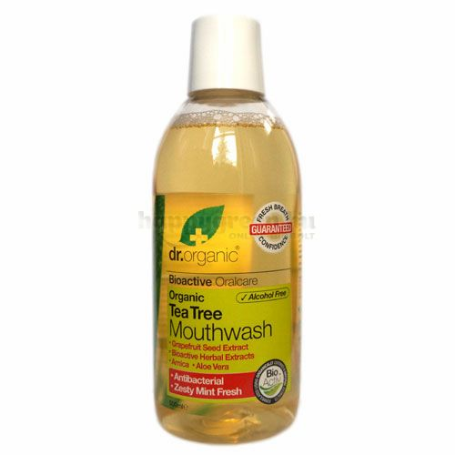 Dr.Organic Szájvíz, Teafa, 500 ml