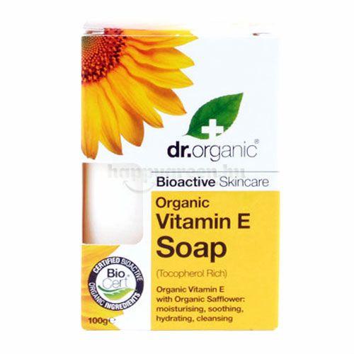Dr.Organic Szappan, E-Vitaminos, 100 g