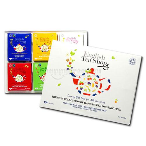 Engish Tea Shop Kézzel Válogatott Bio Teák, Prémium Kollekció, 48 db