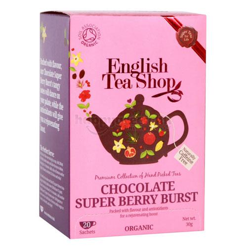English Tea Shop Csokoládés-Szuperbogyós Ízbomba Tea, 20 db