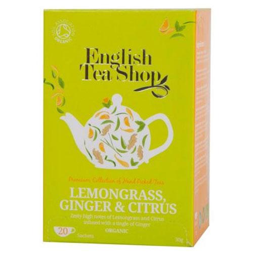 English Tea Shop Citromfű Tea Gyömbérrel és Citrusokkal, 20 db