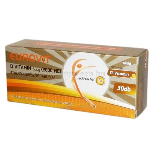 Eurovit D-vitamin 2000 NE, 30 db