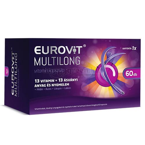 Eurovit Multilong Vitamin Kapszula, 60 db