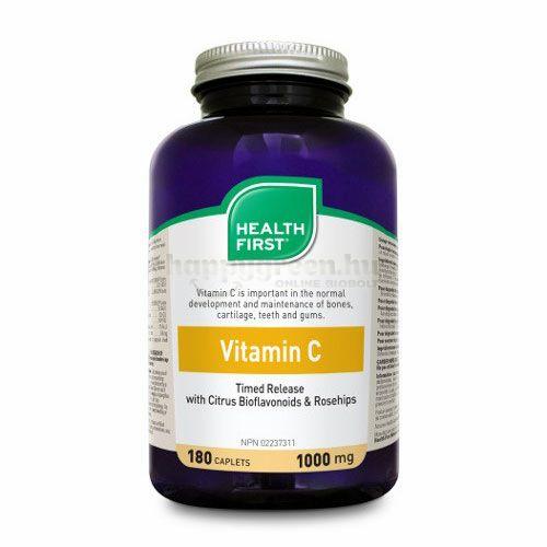 Health First C-Vitamin, Késleltetett,1000 mg, 60 db