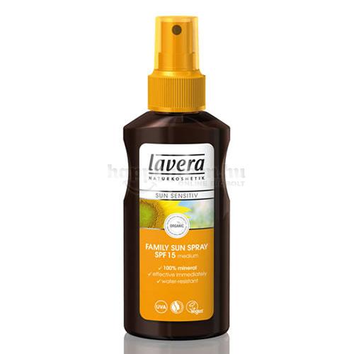 Lavera Sun Napvédő Spray, Családi, SPF 15, 125 ml