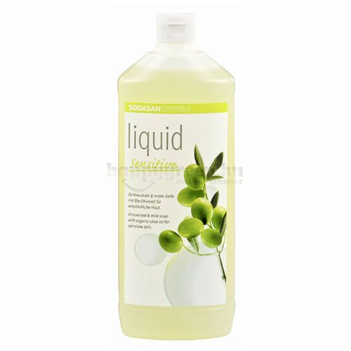 Sodasan Folyékony Szappan, Oliva, Sensitive, 1000 ml