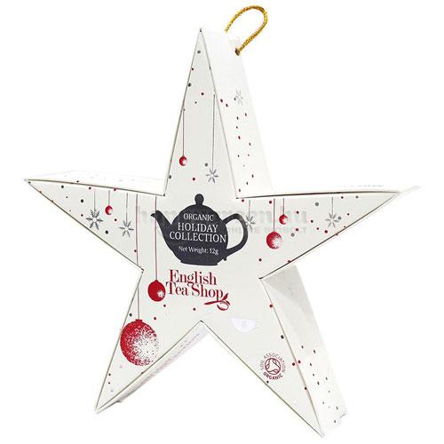 ETS 06 English Tea Shop Piros-Ezüst Csillag Karácsonyi Teaválogatás