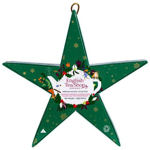 ETS 06 English Tea Shop Zöld Csillag Karácsonyi Teaválogatás