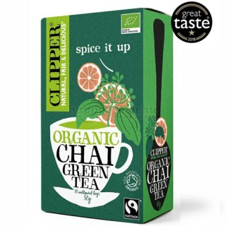 Clipper Bio Zöld Chai Tea, 20 db