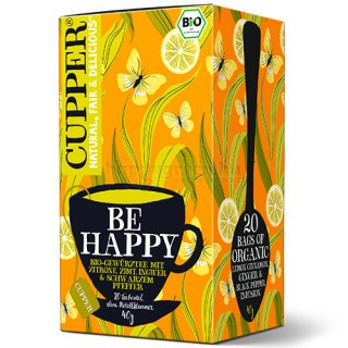 Cupper Bio Be Happy Tea, 20 db